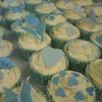 pale blue cupcakes