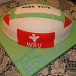 welsh rugby ball cake