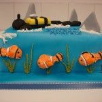 deep sea diving cake
