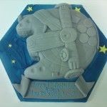 millenium falcon cake, star wars