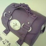 purple mulberry handbag cake