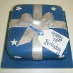 Navy birthday parcel cake