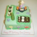 woman gardener cake