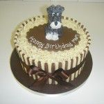 chocolate cake with sugar schnauzer