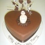 chocolate roll out icing heart cake