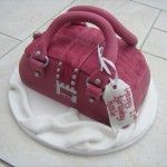 guess handbag cake