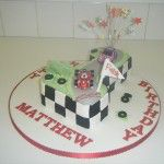 rory the race car number one cake
