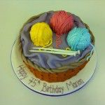knitting cake