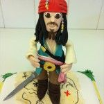 captain jack sparrow cake, pirates of the caribbean cake