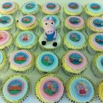 peppa pig rice paper cupcakes