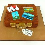 old suitcase cake