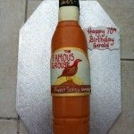 famous grouse whiskey bottle cake