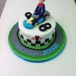go karting cake handmade model