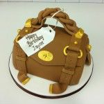 brown mulberry handbag cake