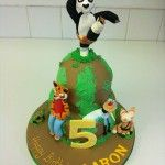 kung fu panda cake with all the characters