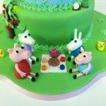 peppa pig picnic cake