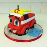 finlay fire truck cake