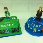 star wars and ben 10 cake