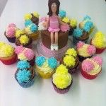 cheerleader cake with pom poms