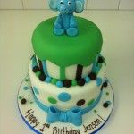 blue elephant cake