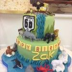 deadly 60 creature cake with animals and bugs