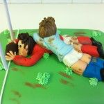 sugar rugby scrum cake