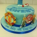 football badges on cake