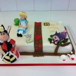 alice in wonderland open book cake