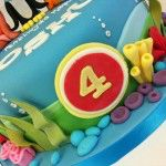 front of octonauts cake