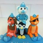 handmade characters from the octonauts cake