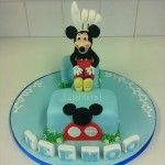 handmade mickey mouse number one cake