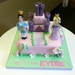 prince and princess castle cake