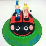 ben and holly ladybird cake