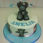 tatty bear cake pink and blue theme