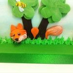 fox on side of cake