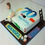 painting and decorating cake