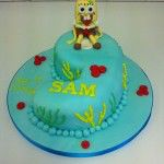 spongebob square pants cake, number nine