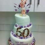robbie williams cake with leopard print 50, let me entertain you
