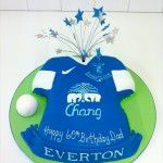 everton football kit cake