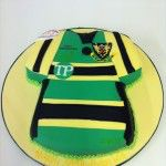 northampton saints rugby top cake