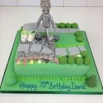 garden cake with tin man