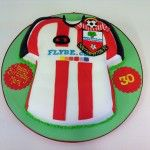 southampton football club shirt cake