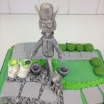 sugar tin man in mans garden cake