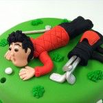 blowing the ball into the hole cake