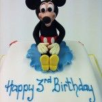 mickey mouse square cake