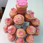pink cupcakes with pink spotty cases