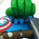the hulk hand on a cake