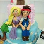 jake the pirate cake and rupunzel