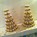 two giant cupcake towers