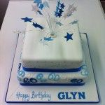 2 tier numbers cake with stars on wires square